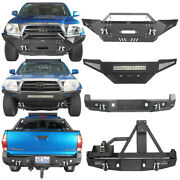 Texture Steel Front Rear W/led Lights Tire Carrier For Toyota Tacoma 2005-2015