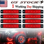 8x Red Led Rock Light Underbody Wheel Lights For Jeep Offroad Truck Atv Car Boat