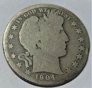 Coin Half Dollar Barber 1904-1906 D-1906 O All 3 In Ag Condition.us Only