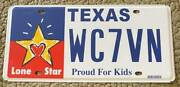 Texas 2015 Lone Star Proud For Kids Graphic License Plate - Superb Wc7vn
