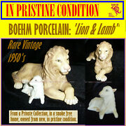 Boehm Porcelain Lion And Lamb Vintage 1950's One Of The Last Rare Offerings