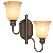 Allen Roth Forsyth15 W 2-light Dark Oil-rubbed Bronze Swing Arm Wall Sconce
