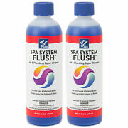 Spa System Flush Hot Tub Jet And Plumbing Super Cleaner And Purge - 2 X 16oz Bottles
