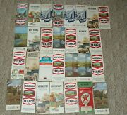 Lot 29 Vintage Texaco Gas Oil Advertising Road Maps 50and039s 60and039s 70and039s Chicago More