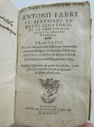 1598 Economy And Law Book By Antoine Favre Antique 16th Century Rare Vellum Bound