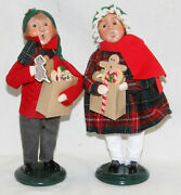 Byers Choice Gingerbread Family Boy And Girl Carolers - New - Free Shipping
