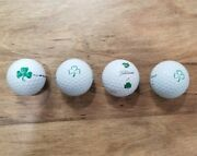 Rare And Collectible Titleist Lucky Green Clover Golf Ball Lot 4 Used Golf Balls