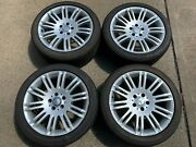 Set Of 4 Oem Mercedes Benz E Class 18 Rims And Continental Tires A2114015302 Used