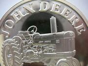 1-oz.john Deere Model 530 Tractor Christmas Gift.999 Proof Edt Silver Coin+gold