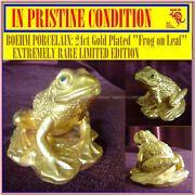 Boehm Porcelain Very Limited Edition 24ct Gold Plated Frog No 3 Of 6 Only Made