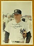 Mickey Mantle Signed Original 1967 Snapshot 5x7 Photo With Full Jsa Letter