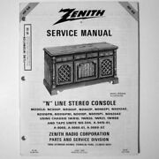 Zenith Andreg Hf-58 Service Manual - N Line Stereo Console - Models Nc900p Nr902p +++