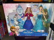 Disney Frozen Toysrus Exclusive Doll Anna Elsa And Olaf Musical Magic Gift Set New