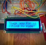 Lcd Module 1602 Blue/green Screen With Backlight 5v Display Diy Project