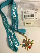 Brand New Disney Mickey Mouse Space Age Medallion And Lanyard Set Rare Vintage