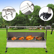 Samger 25w Large Roaster Spit Rotisserie Bbq Grill Whole Lamb Chicken Pig Lamb