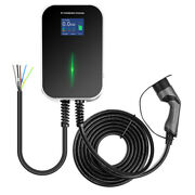 32a Ev Charger 22kw Wallbox Electric Car Charging Station Type2 Cable 3phase Iec