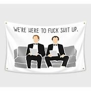 The Interview Banner Flag 3x5feet For College Dorm Frat Man Cave Garden Andamp