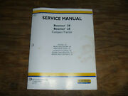 New Holland Boomer 20 And 25 Tractor Engine Pto Brakes Shop Service Repair Manual
