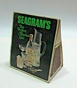 Vintage 1960and039s Seagramand039s Gin Martini Old Matchbox Table Cardboard Tent Free S/h