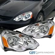 For 02-04 Acura Rsx Dc5 Replacement Clear Headlights Driving Lamps Left+right