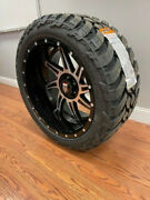 22x12 American Truxx Vortex At162 Wheels 33 Mt Tires 6x135 Ford F150 Expedition