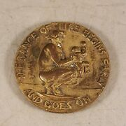 1938 Society Of Medalists Bronze Medal 17th Issue Dance Of Life / Pleasure Pain