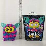 Furby Boom Pink And Blue Hearts Hasbro 2013 Original Box Tested And Working