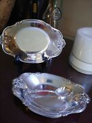 International Silver Company Serving Tray 448 And Spoon