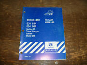 New Holland 634 644 654 664 Round Baler Twine Wrapper Shop Service Repair Manual