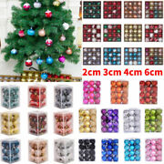 Christmas Tree Balls Baubles Hanging Xmas Party Ornament Gifts Decor 2/3/4/6cm