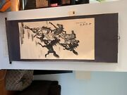 Chinese Hanging Scroll. Beautiful Condition. Believed To Be Very Old.andnbsp
