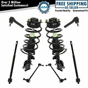 8 Piece Steering And Suspension Kit Complete Strut And Spring Assemblies W/ Tie Rods