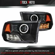 Anzo Black Ccfl Halo Projector Led Headlights For 09-17 Ram 111159