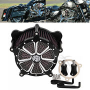 Blk Edge Red Air Cleaner Red Intake Filter For Harley Touring Street Glide Bob