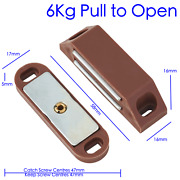 Magnetic Catch Large Heavy Duty 6kg Cupboard Cabinet Door Mag Latch Brown