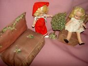 Nancy Ann Storybook 1940 Mccall Orig Pattern 811 And 3-pc. Doll House Furniture