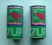 7 Up Cans 2 Different 1970s U.s. States Collection - South Carolina