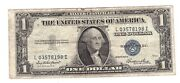 1935 E 1 One Dollar Silver Certificate Usa United States Of America Notes R202