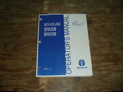 New Holland Bw28 And Bw38 Bale Wagon Owner Operator Maintenance Manual User Guide