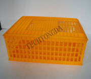 Plastic Chicken Cage Folding Poultry Transport Box For Chicken Duck Goose And Ra