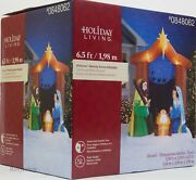 Christmas Gemmy Holiday Living 6.5 Ft Nativity Scene Airblown Inflatable Nib