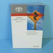 14 2014 Toyota Camry/camry Hybrid Navigation System Owners Manual