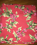 Lot 5 Christmas Napkins Coral W/ Holly Berries Cotton 19andrdquox 19andrdquo Williams Sonoma