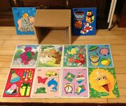 Lot Of 12 Wooden Tray Puzzles And Wooden Puzzle Rack