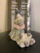 Lladro Collectible Figurines-retired 5277 Pierrot With Puppy
