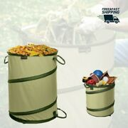 Portable Yard Waste Bag Lawn Leaf Reusable Containers Pop Up Garden Weed Loader