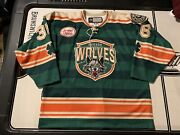 Chicago Wolves Chris Casto 2017-18 St Patrick's Day Game Worn Specialty Jersey