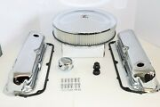 Sb Ford Chrome Engine Dress Up Kit Valve Covers Air Cleaner Gaskets Sbf 289 302
