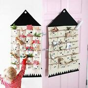 Christmas Countdown Advent Calendar With 24 Days Pockets Wall Hanging For Home